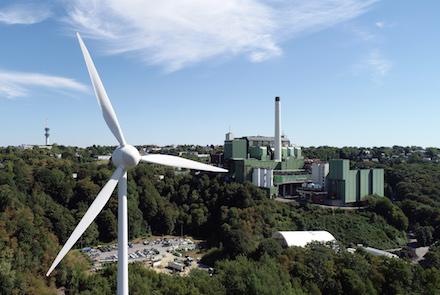 Die Windkraftanlage von Bürgerwind Cronenberg liefert Strom für Tal.Markt-Kunden in Wuppertal.