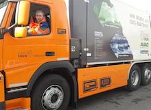 Das vollelektrische Futuricum-Fahrzeug ist bislang nur in der Schweiz unterwegs – so etwa in der Stadt Thun.