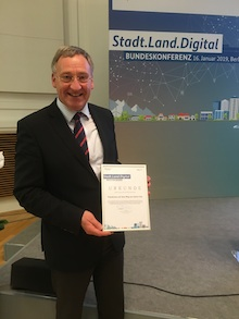 Emsdettens Smart-City-Strategie hat im Wettbewerb Stadt.Land.Digital überzeugt.