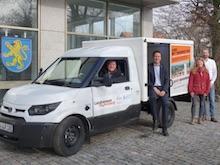 Kreis Ravensburg nutzt StreetScooter für die Beförderung der internen Verwaltungspost.