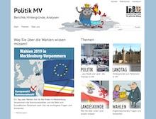 Mecklenburg-Vorpommern: Neues Online-Angebot zu Politik, Landtag, Landeskunde und Wahlen.