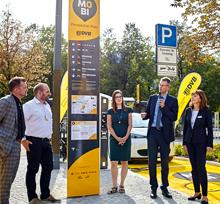 Der erste Dresdner MOBIpunkt wurde am Pirnaischen Platz eröffnet.