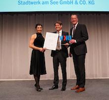 Stadtwerk am See ist einer der Preisträger des VKU Innovationspreises 2019.