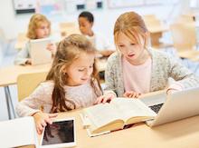 Tablets und Smartphones sind im Unterricht weiterhin eine Seltenheit.