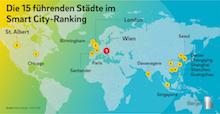 Die 15 führenden Städte im Smart-City-Ranking.