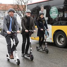 Mit Sondergenehmigung: Der Testbetrieb für E-Scooter des Unternehmens Bird in Bamberg ist gestartet.
