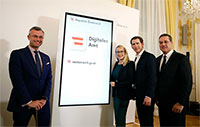 Digitales Amt im österreichischen Bundeskanzleramt vorgestellt.