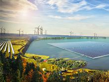Zukunftsaussichten im Rheinischen Revier: Erneuerbare Energien statt Braunkohle.