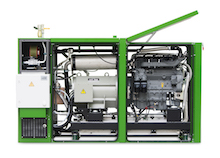 Mit dem Re-Design der g-box 50 erzielt BHKW-Hersteller 2G Energy bei der neuen g-box 50plus eine kompaktere Bauform bei gleichzeitiger Erhöhung der Leistung und Servicefreundlichkeit.