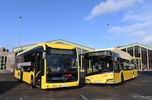 Noch in diesem Jahr sollen je 15 E-Busse von den Unternehmen Solaris und Mercedes-Benz bei der BVG in Berlin in Betrieb gehen.