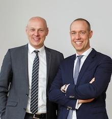 Frank Gäfgen (links) war bislang Geschäftsführer bei der Wiesbadener ESWE Verkehrsgesellschaft. Sebastian Jurczyk wechselt von der EWE zu den Stadtwerken Münster.