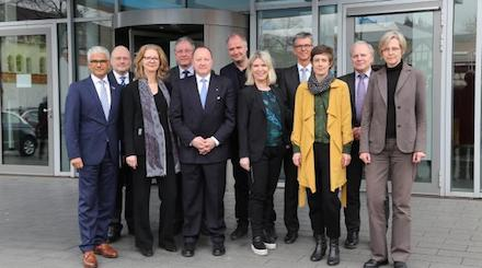 Das Bewertungsgremium zum BSI-Neubau in Bonn.