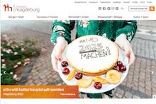 Das erneuerte Web-Portal der Stadt Magdeburg ist auf die Nutzung mit mobilen Endgeräten vorbereitet.
