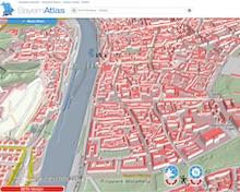Der BayernAtlas enthält ab sofort auch 3D-Daten.