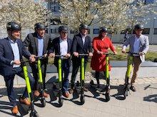 Von der Erprobung der E-Scooter auf dem DESY-Forschungscampus will auch die Freie und Hansestadt Hamburg profitieren.