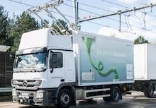 Entega liefert nicht nur den Ökostrom für die Hybrid-Lastwagen im Projekt ELISA.
