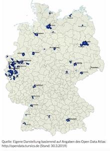 Welche Kommunen aktuell Open Data veröffentlichen.