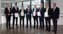 Die fünf Landkreise Karlsruhe, Biberach, Böblingen, Konstanz und Tuttlingen haben einen Konsortialvertrag unterzeichnet.