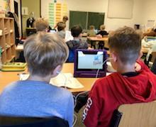 Die Oberschule Habenhausen ist eine von vielen Bremer Schulen, die mit Tablets und Lernvideos arbeitet.