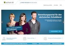 Sachsen: Das Online-Bewerbungsportal für Lehrer wird gut angenommen.
