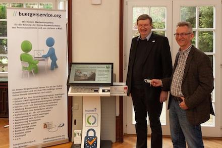Erstes EU-Bürger-Terminal für Studenten geht an der Hochschule Harz in Betrieb.