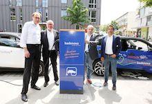 Die neuen öffentlichen Ladestationen in Freiburg im Breisgau sind Anfang Juni in Betrieb genommen worden.
