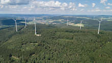 Waldwindpark Buchenau ist in Betrieb gegangen.