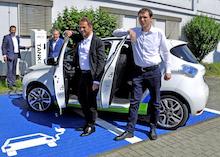 Das erste Elektroauto der Stadtverwaltung Leverkusen wird vom Fachbereich Umwelt genutzt.