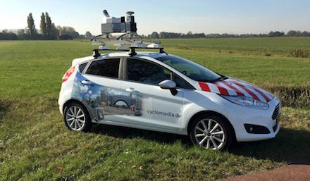 Spezielle Fahrzeuge erstellen derzeit 360-Grad-Panorama-Aufnahmen der Hertener Straßen.