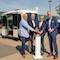 Start für den Testbetrieb des autonomen Minibusses auf dem Gelände der Stadtwerke Osnabrück.