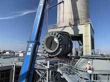 Gut gelandet: das T-Stück für die neue Gasturbinen-Anlage in Freimann.
