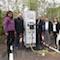 Vertreter der Stadtwerke und der Stadt Heidelberg haben jüngst die erste Schnellladestation im Heidelberg Innovation Park eingeweiht.