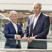 Trianel-Geschäftsführer Sven Becker (l.) und Oliver Runte erwarten auch 2019 ein positives Ergebnis.