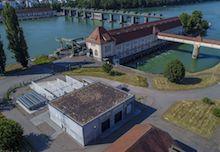 Reallabor der Energiewende: Power-to-Gas-Anlage am Laufwasserkraftwerk Wyhlen am Hochrhein.