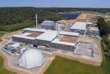 Neue Bioabfallvergärungsanlage auf der Sinsheimer AVR Deponie speist künftig Biogas ins Erdgasnetz ein.