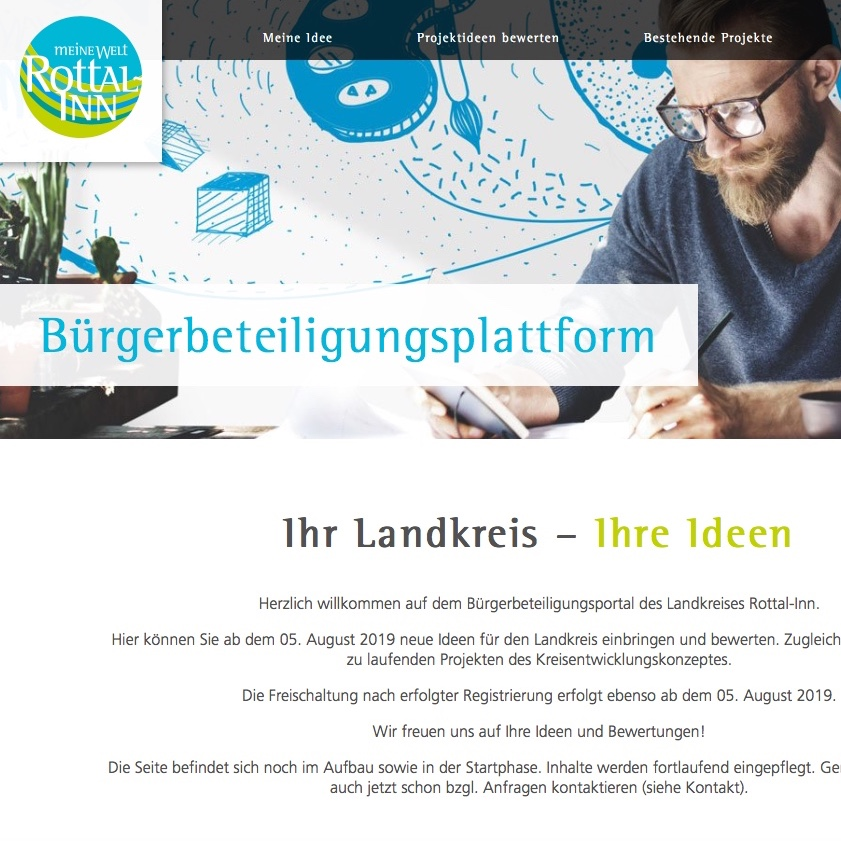 Kreis Rottal-Inn: Erstmals Bürgerbeteiligungsplattform online.