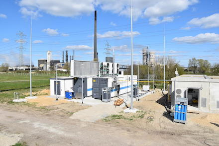 Der neue Elektrolyseur in Brunsbüttel soll künftig bis zu 1.800 Megawattstunden Wasserstoff ins Erdgasnetz einspeisen.