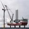 Trianel Windpark Borkum II: Die erste Offshore-Windkraftanlage steht.