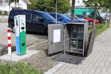 Unterflur-Netzanschluss für E-Ladesäule in Oberammergau.