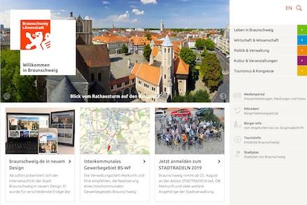 Die überarbeitete Website von Braunschweig ist nun im Corporate Design der Stadt gehalten.