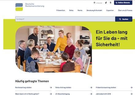 Website der Deutschen Rentenversicherung präsentiert sich jetzt modern und übersichtlich im Web.