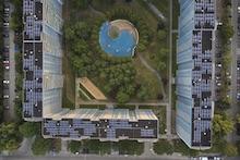 1.800 Quadratmeter Modulfläche ist von den Berliner Stadtwerken auf den Dächern der Wohnanlage Malchower Aue verbaut worden.