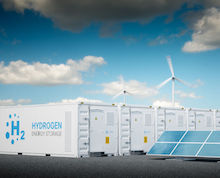 Wasserstoff-Produktion: Elektrolyseure müssen mit grünem Strom laufen.