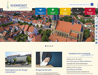 Duderstadt-Website in neuem Design.