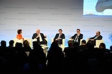 Diskussion über die zukünftige Rolle von Wasserstoff bei der Energiewende.