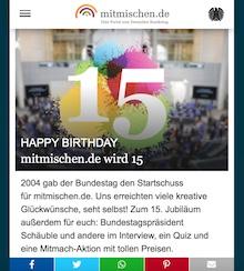Das Jugendportal des Bundestags feiert 15. Geburtstag.
