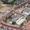 Luftbild der ehemaligen Lagarde-Kaserne in Bamberg (roter Rahmen).
