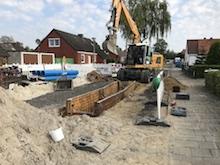 Bauprojekt der Stadtentwässerung Leer.