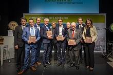 WEMAG-Projektleiter Jost Broichmann (2. v. li.) mit den anderen Preisgekrönten.