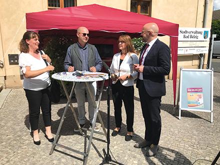 Bad Belzig: Launch der App mit Prominenz.